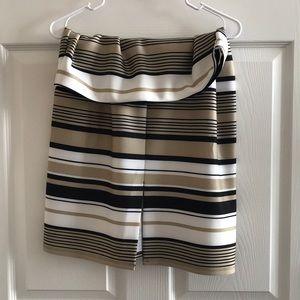 Roz & Ali Large striped stretch skirt